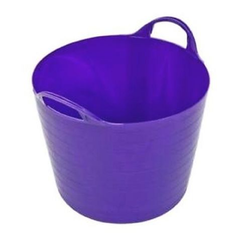 Round Plastic Carry Storage Tubs - Purple 3 Sizes
